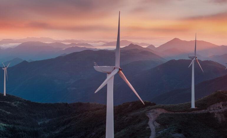 Drohnenaufnahmen Luftbilder Windkraft Windrad Windräder Offshore Windkaftanlage