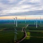 Drohnenaufnahmen Windkraft Windrad Windpark Hamburg