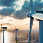 Drohnenaufnahmen Windkraft Windrad Windräder Offshore Windkraftanlage